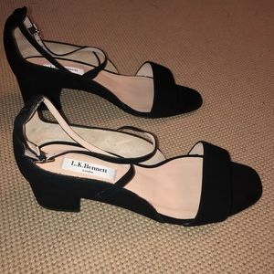 NIB L.K. Bennett black suede leather heels